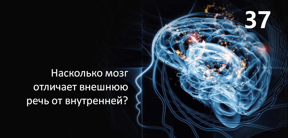Насколько мозг отличает внешнюю речь от внутренней?